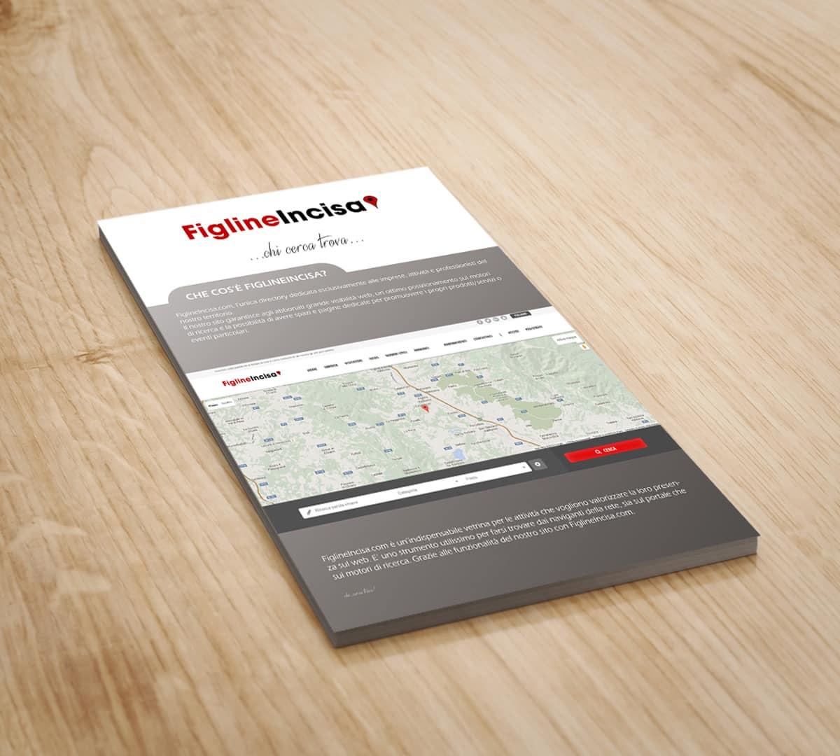 Bifold brochure design mockup