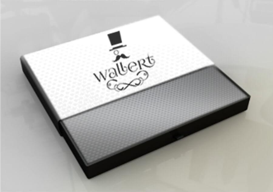 Custom professional box packaging design mockup