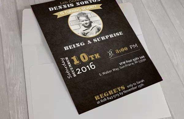 custom professional card invitation graphic design