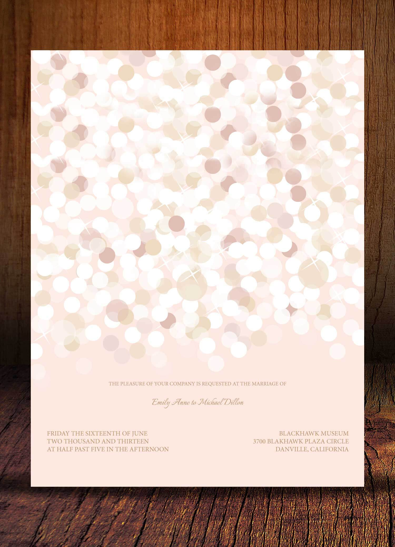 Invitations graphic design