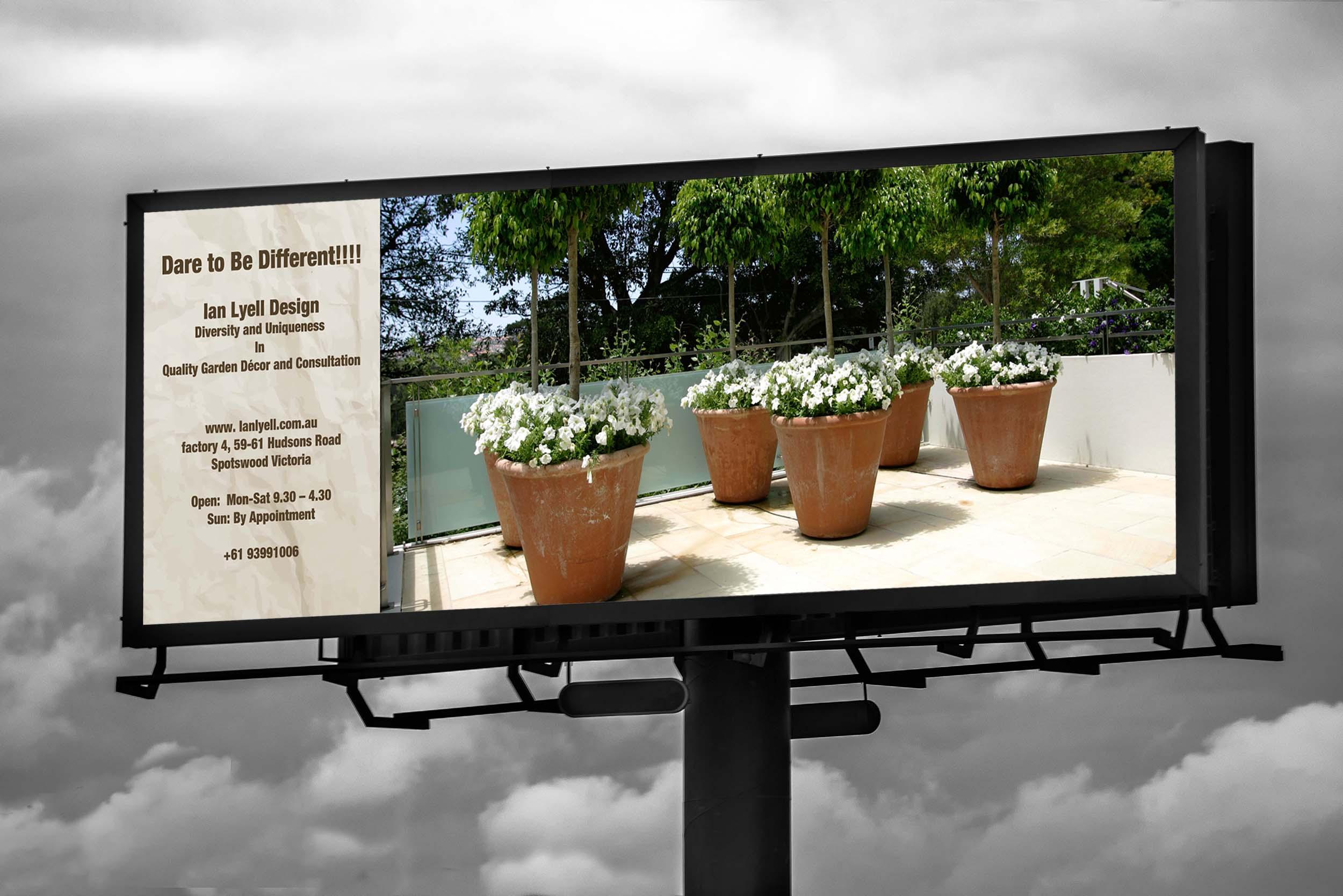 Advertising graphic design billboard