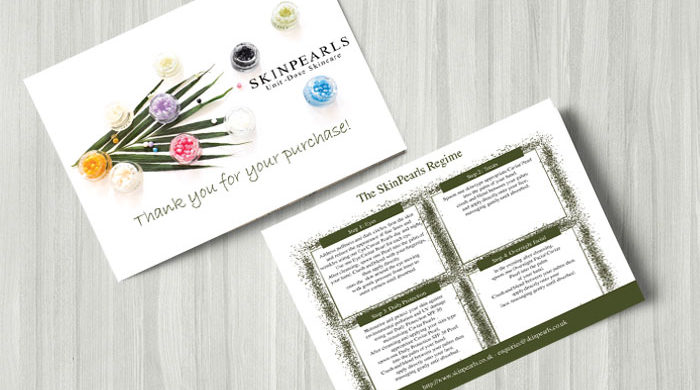Creative graphic design postcard