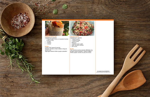 Custom recipes book design layouts