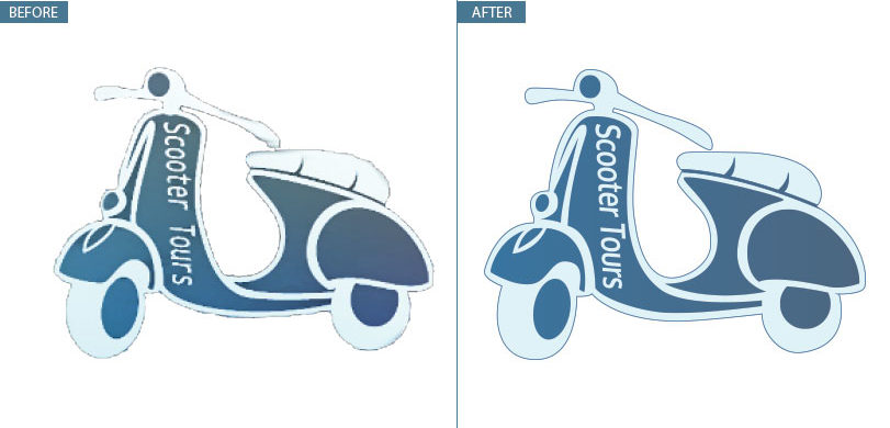Vector image logo conversion