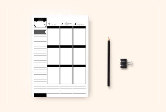Planner, calendar design