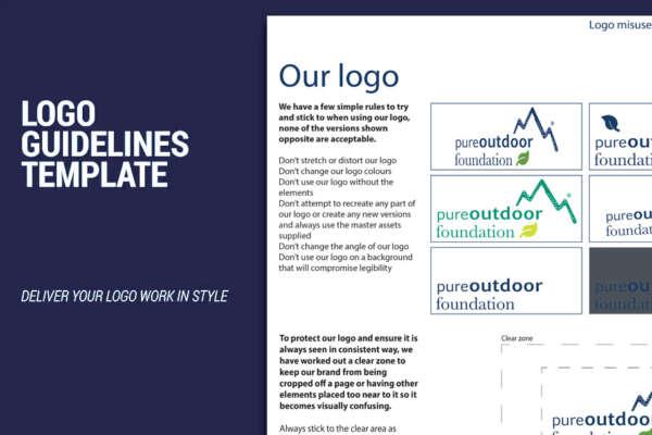 branding guidelines logo pure outdoor
